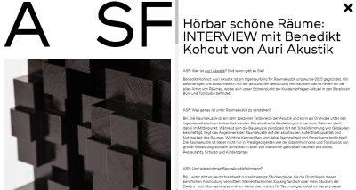 Interview Dr.-Ing. Benedikt Kohout Auri Akustik Architekturschaufenster Karlsruhe Raumakustik