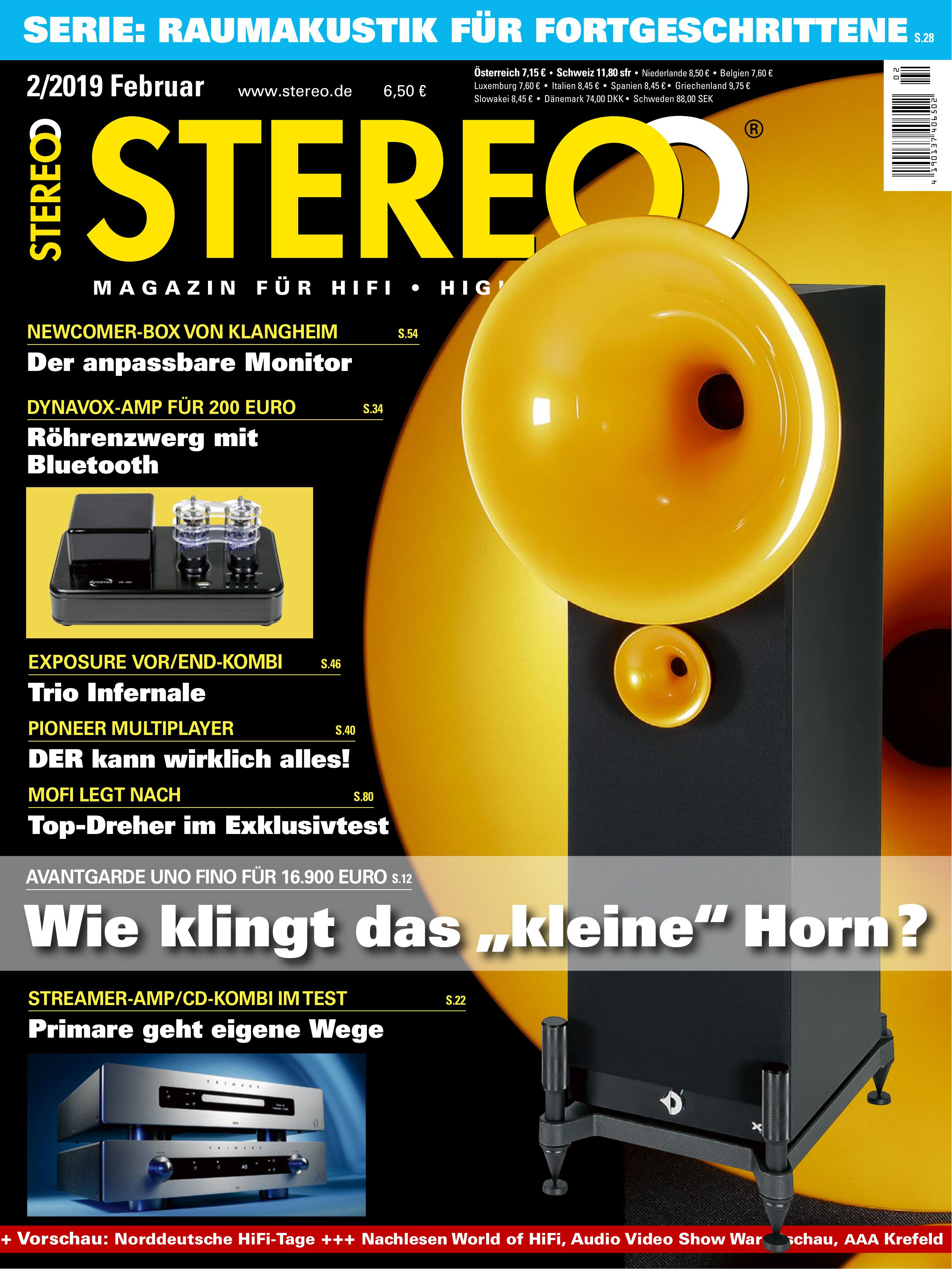 Stereo 2/2019 Raumakustik Auri Akustik Diffusor
