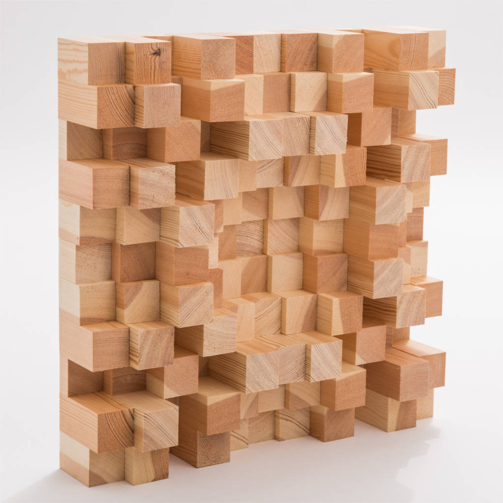 Auri Akustik Diffusor Skyline Inverse Holz natur